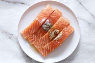 step 3: season salmon