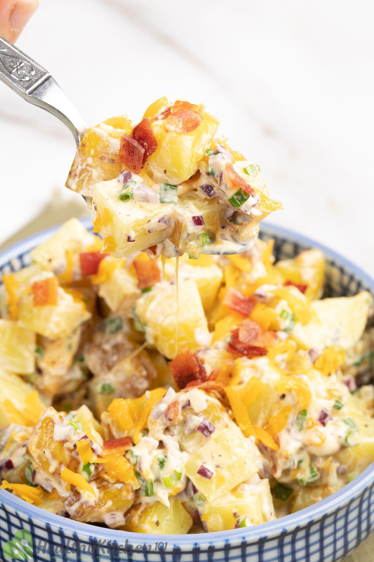 Homemade Loaded Potatoes Salad Recipe