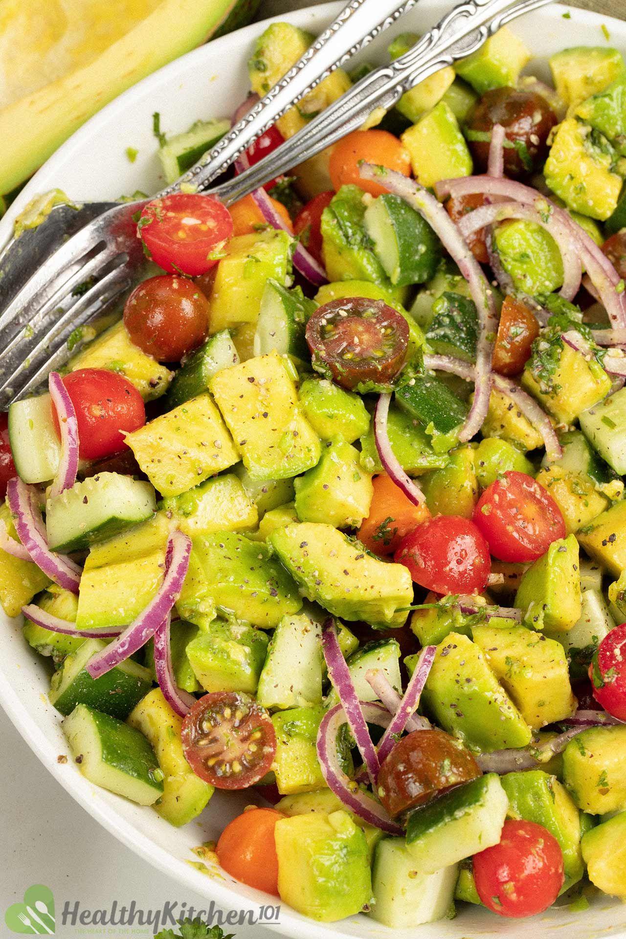 How long does Avocado Salad last