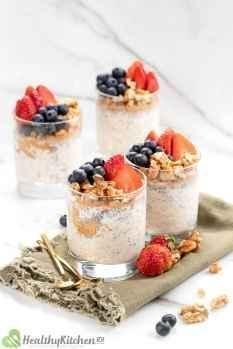 overnight oats with yogurt