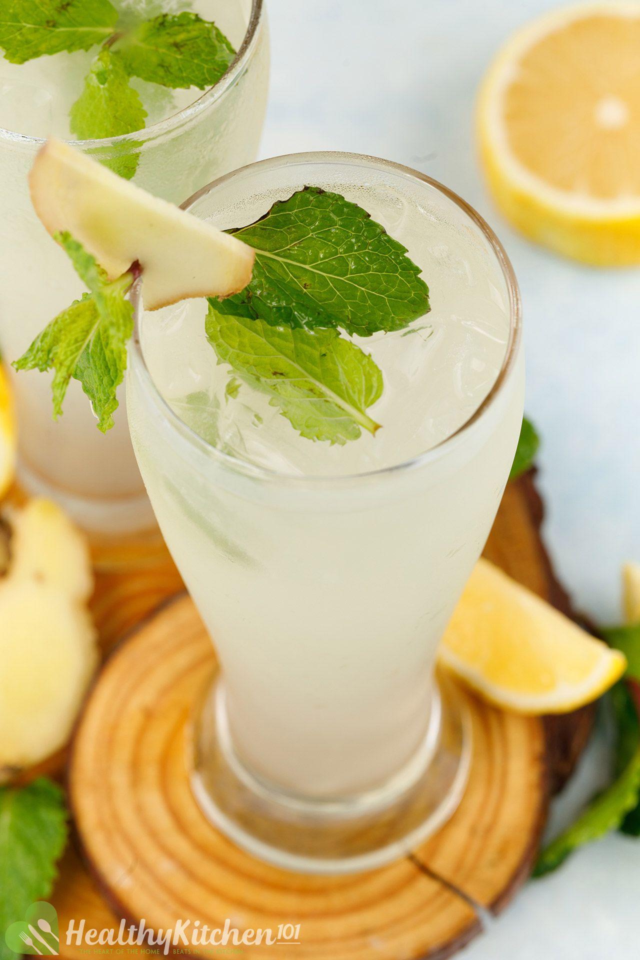 homemade ginger lemonade