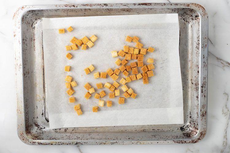 Step 1: Make croutons