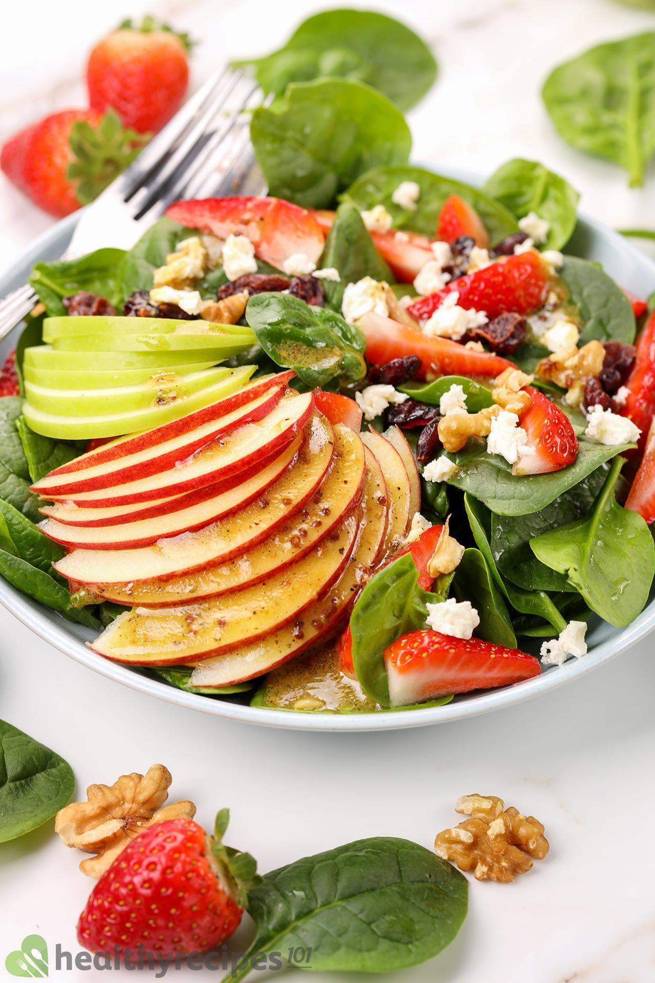homemade spinach salad recipe