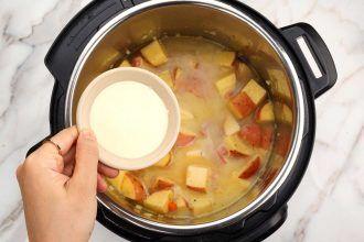 step 4: add liquid and cook