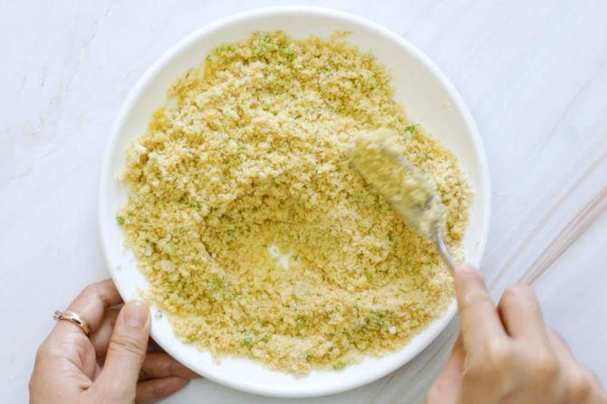 Make the breadcrumb mixture