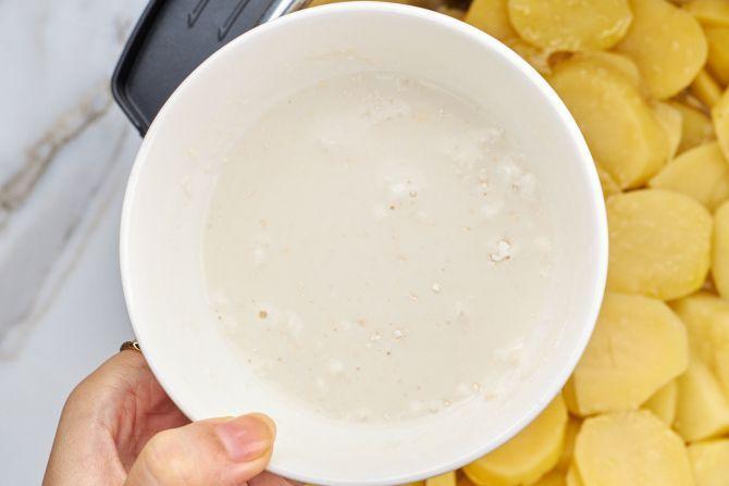 Make the milk slurry
