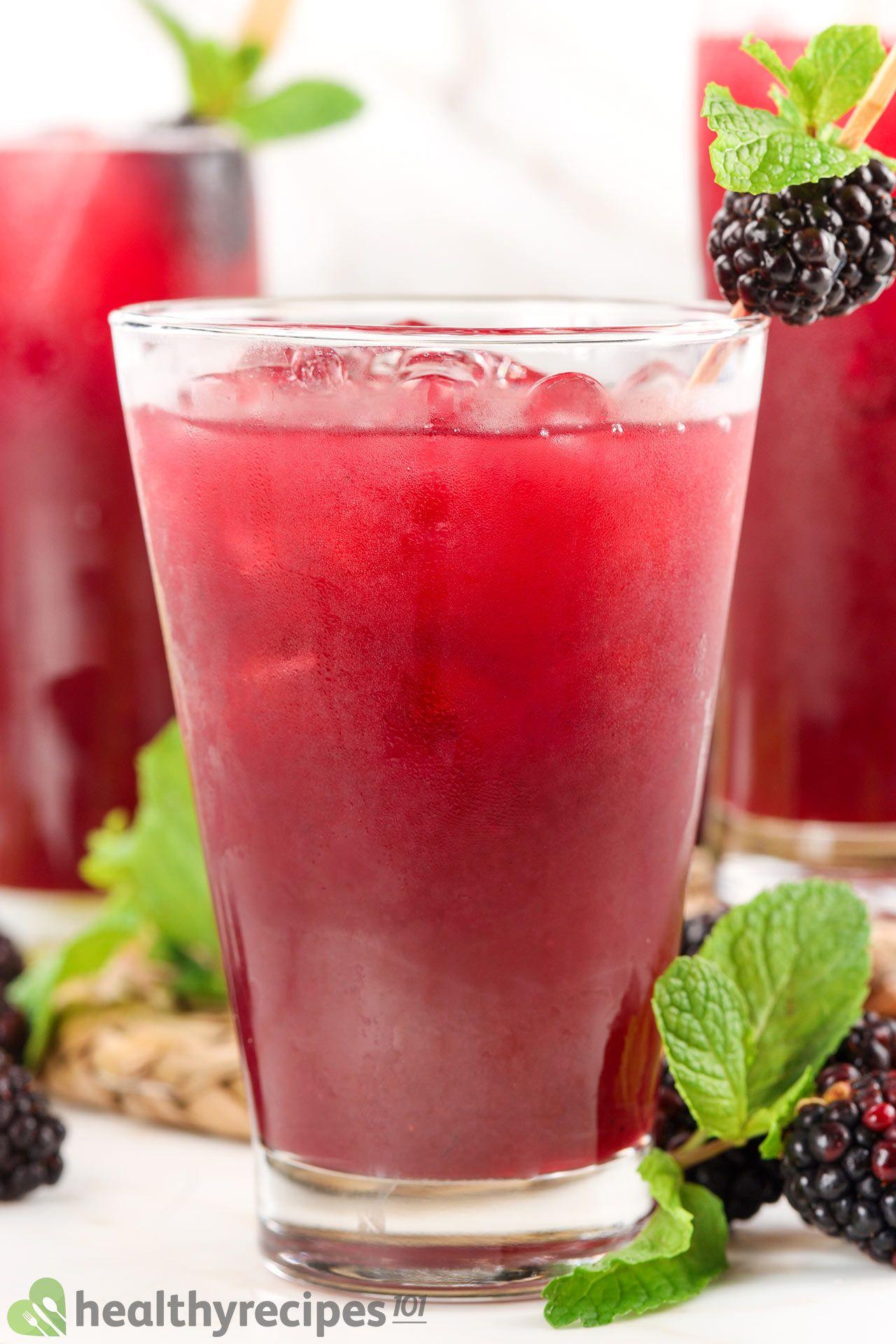 health benefits of blackberry juice