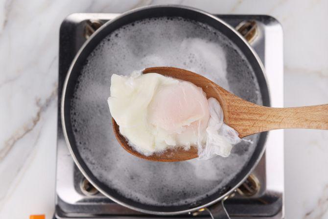 step 2: Poach the eggs