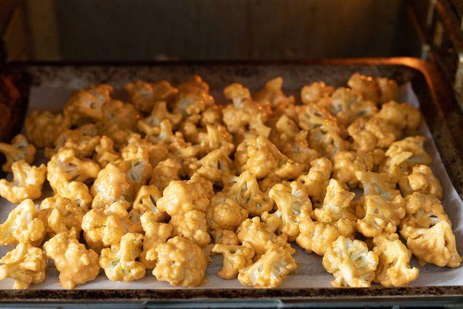 Step 3: Bake the cauliflower.