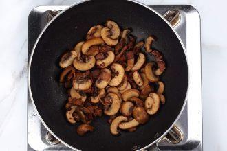 step 4: Cook the mushrooms