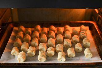 Bake until golden brown at 390℉
