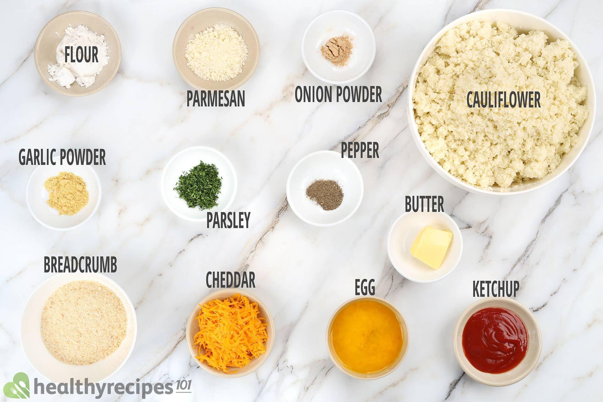 Cauliflower Tots Ingredients