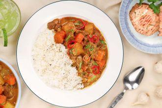 Serve over steamed rice.