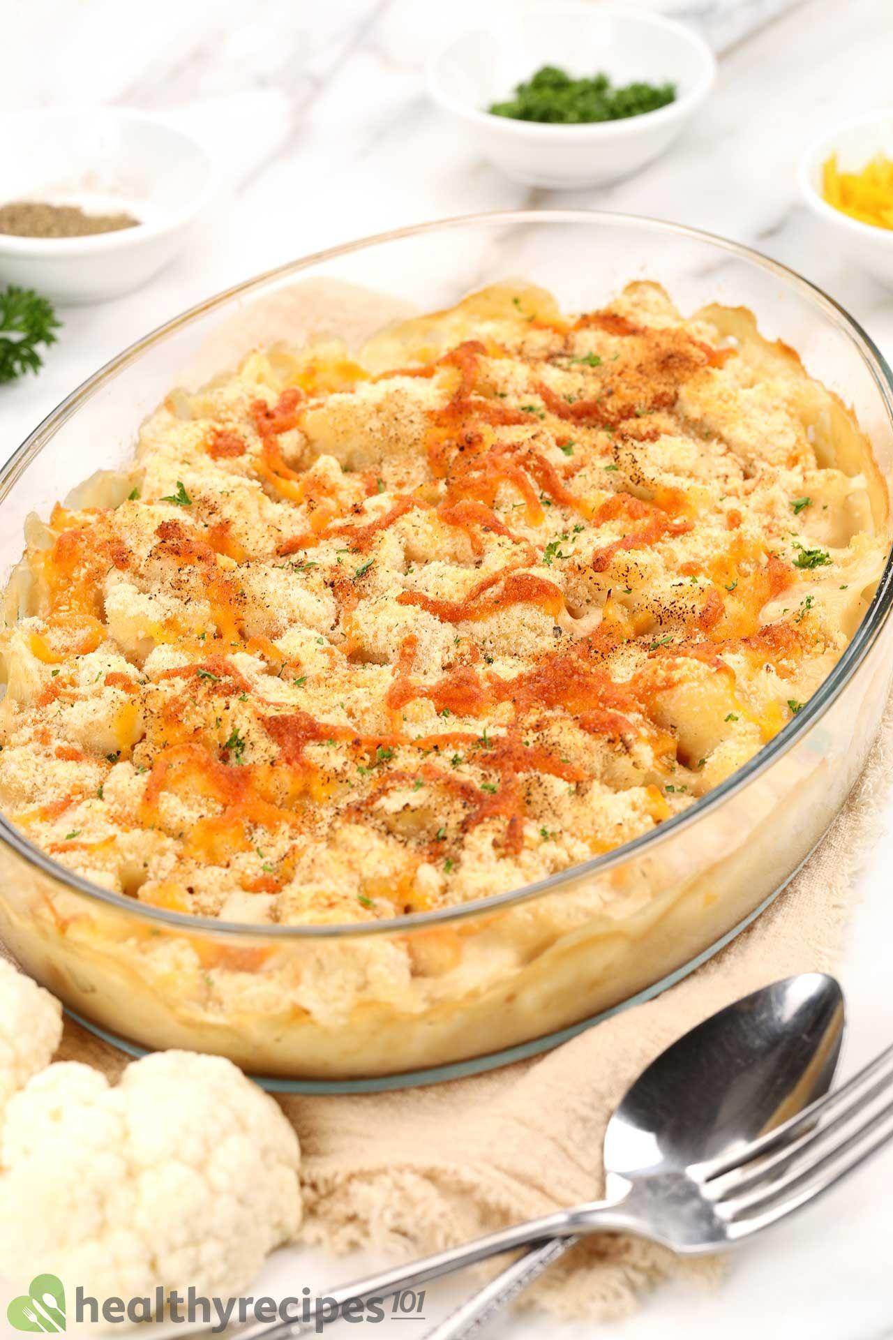 Homemade Cauliflower Mac And Cheese Recipe