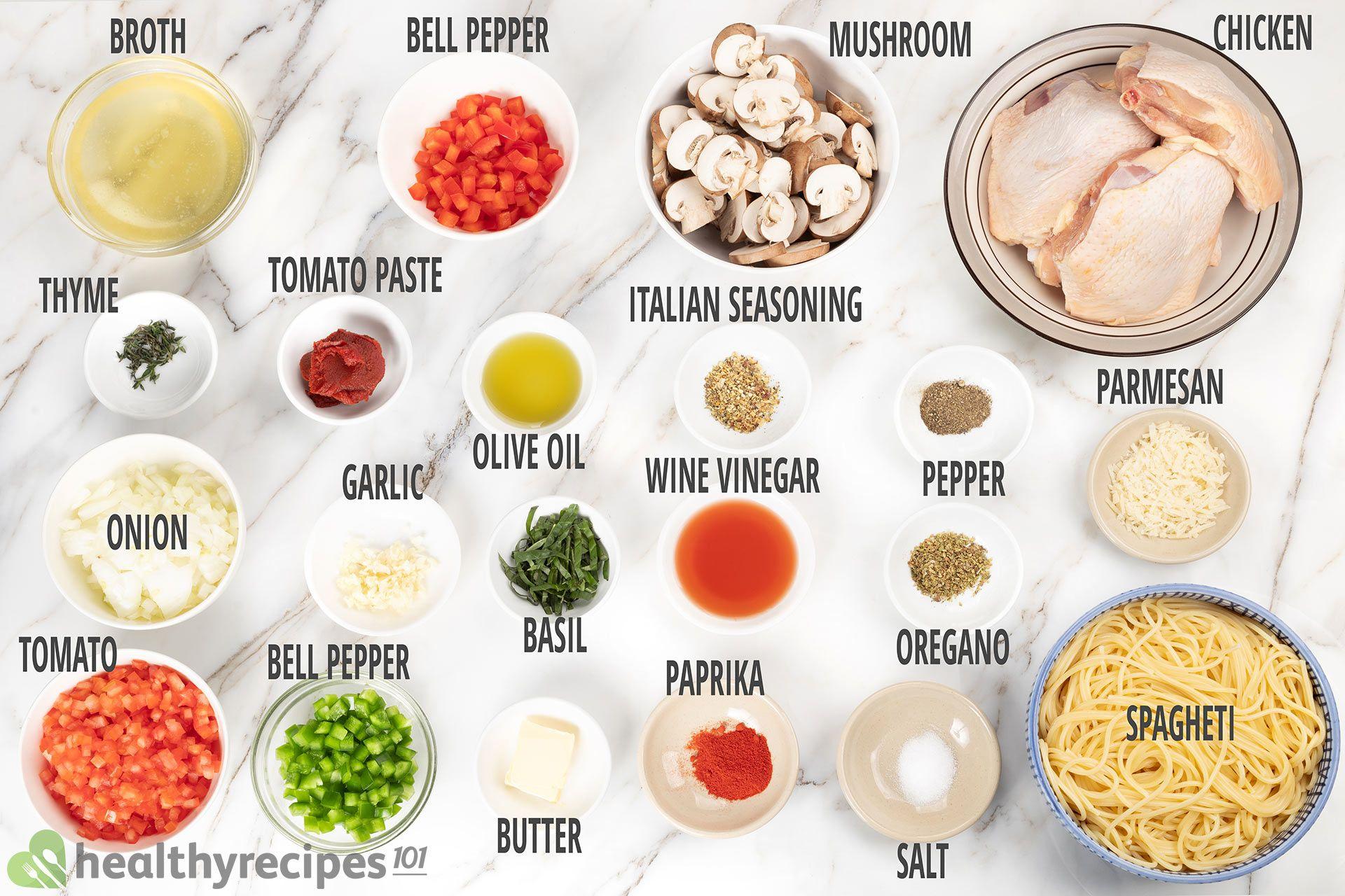 ingredients for instant pot chicken cacciatore