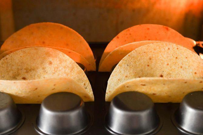 step 4: Bake the tortillas while waiting