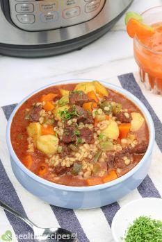 Instant Pot Beef Barley Soup Recipe