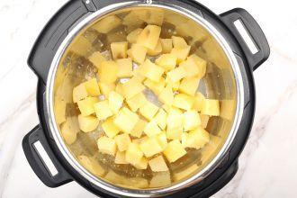 Step 6: Stir fry potatoes.